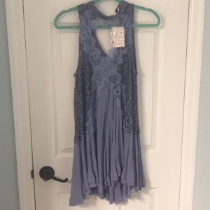 NWT Free People Tell Tale Heart Lace Tunic